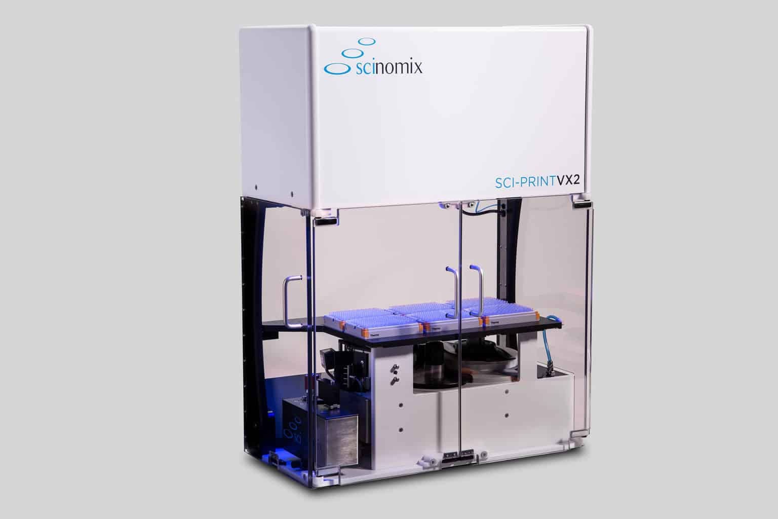 The Sci-Print VX2 is a fully automated tube labeling system, capable of printing and applying labels to tubes ranging from 0.5 mL to 50 mL in size.
